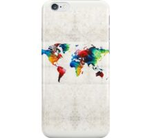 World Map 19 - Colorful Art By Sharon Cummings  iPhone Case/Skin