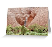 Rain on Uluru Greeting Card