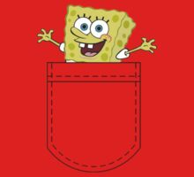 Pocket Spongebob One Piece - Short Sleeve