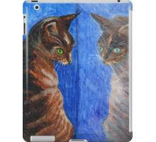 mirror cat iPad Case/Skin