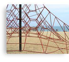 Barcelona Beach Playground Canvas Print