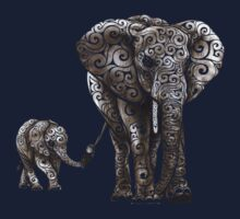 Swirly Elephants Kids Clothes