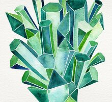 Emerald Watercolor by Cat Coquillette