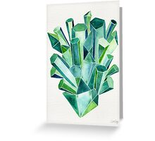 Emerald Watercolor Greeting Card