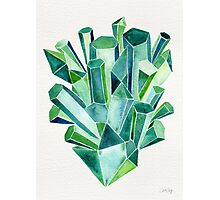 Emerald Watercolor Photographic Print