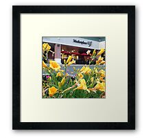 the marketplace Framed Print