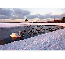 Snow Lake Photographic Print