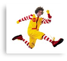 """Danny Duncan """"Ronald McDonald"""" Design Canvas Print"""