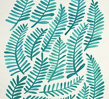 Green Fronds by Cat Coquillette