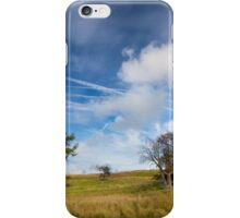 Beautiful sky & wind swept trees iPhone Case/Skin