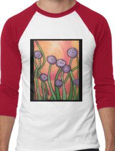 More Whimsical Flowers Men's Baseball ¾ T-Shirt