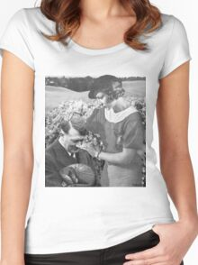 motherly love, retro collage Women's Fitted Scoop T-Shirt