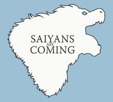 Saiyans Are Coming Kids Tee