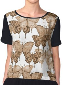 The Butterfly Project - Rust Chiffon Top