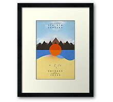 STN MTN Chained Framed Print