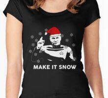 Make It Snow Star Trek Christmas Shirt Women's Fitted Scoop T-Shirt