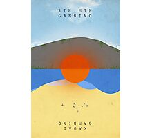 STN MTN Modified Text Photographic Print