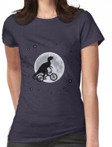 Dinosaur Moon Womens Fitted T-Shirt