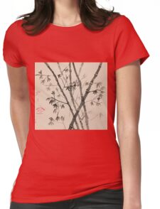 Japanese Bamboo  Womens Fitted T-Shirt