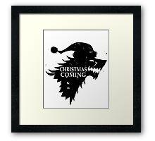 Funny Christmas Is Coming Holiday Birthday Gift Shirt Framed Print
