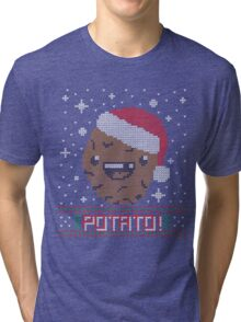 UGLY POTATO CHRISTMAS SWEATER ERMAHGERD!! Tri-blend T-Shirt