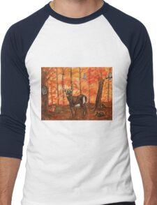 Fall Greetings Men's Baseball ¾ T-Shirt