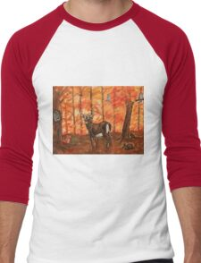 Fall Greetings Men's Baseball ¾ T-Shirt