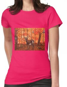 Fall Greetings Womens Fitted T-Shirt