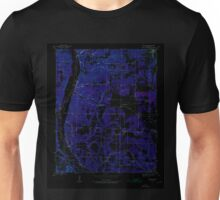 USGS TOPO Map Arkansas AR Bethesda 257987 1942 24000 Inverted Unisex T-Shirt