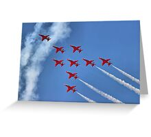 The Red Arrows - Eagle Roll - Farnborough 2014 Greeting Card
