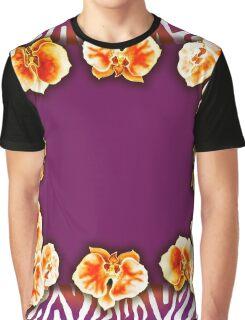 Orange Orchids Graphic T-Shirt