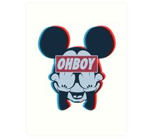 Stereoscopic ohboy Art Print