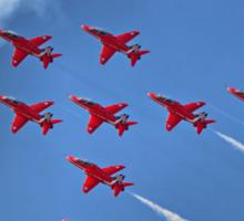 The Red Arrows - Eagle Roll - Farnborough 2014 Sticker