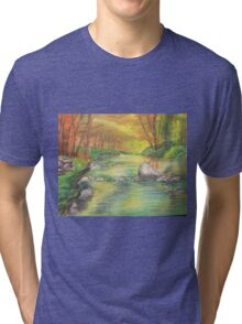 Peaceful River Scene Tri-blend T-Shirt