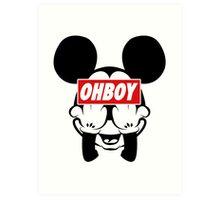 Ohboy Art Print