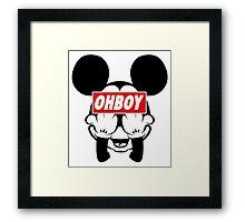 Ohboy Framed Print