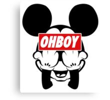 Ohboy Canvas Print