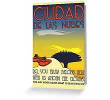 Ciudad De Las Nubes -  T-shirt and Poster Greeting Card