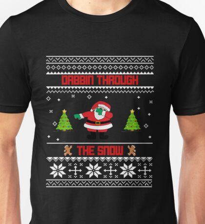 "Dabbin' Through The Snow ""Ugly Christmas Sweater"" Unisex T-Shirt"