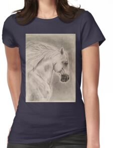 Artistic Running Horse Womens Fitted T-Shirt
