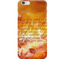 Time Hurries On... iPhone Case/Skin