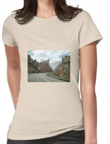 Long Lonely Road Womens Fitted T-Shirt