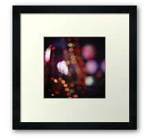 Red purple abstract photo of bokeh lights square Hasselblad 6x6 medium format film analogue photograph Framed Print