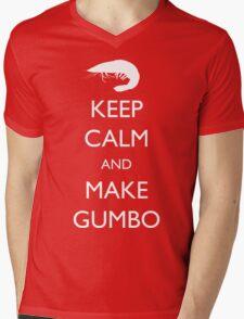 Keep Calm and Make Gumbo Mens V-Neck T-Shirt