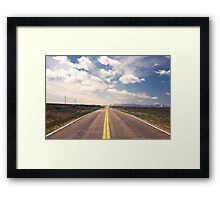 Explore New Roads Framed Print