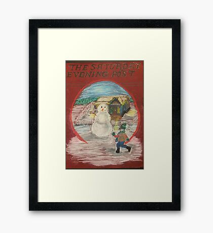 Saturday Evening Post Framed Print