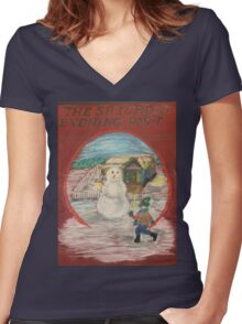 Saturday Evening Post Women's Fitted V-Neck T-Shirt