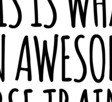 Limited Edition 'This is what an awesome horse trainer looks like' T-Shirt Sticker