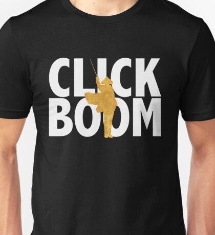 click. boom. Unisex T-Shirt