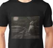 Black and White Windmill Unisex T-Shirt